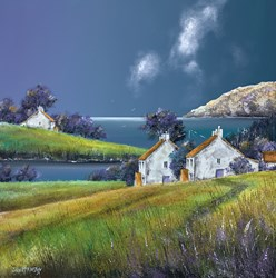 South Coast Storm by John Mckinstry - Original Painting on Box Canvas sized 20x20 inches. Available from Whitewall Galleries