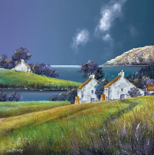 South Coast Storm by John Mckinstry - Original Painting on Box Canvas